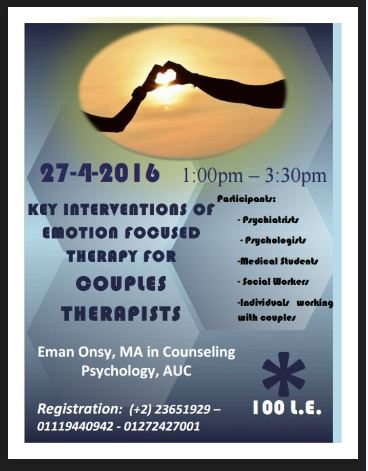 Key interventions of Emotion focused Therapy for Couples Therapists