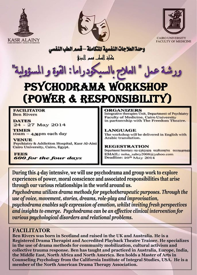 Psychodrama workshop, Power and Responsibility